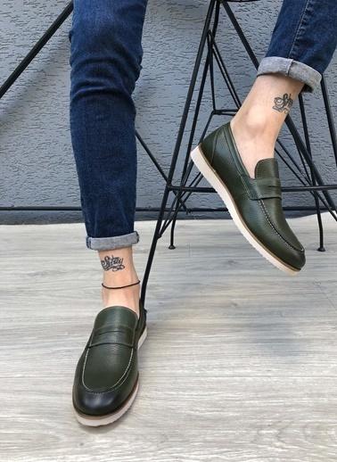 MARTINETTO Hakiki Deri Ayakkabı Yeşil